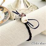 【卡樂熊】韓版個性女伶珍珠幾何吊墜髮束