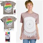 【摩達客】(預購)美國進口ColorWear 曼陀羅補夢網 DIY彩繪短袖T恤(附布料畫筆+衣型盒)