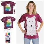 【摩達客】(預購)美國進口ColorWear 野熊 DIY彩繪短袖T恤(附布料畫筆+衣型盒)