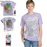 【摩達客】(預購)美國進口ColorWear 花草象 DIY彩繪短袖T恤(附布料畫筆+衣型盒)