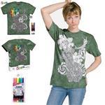 【摩達客】(預購)美國進口ColorWear 花與鹿 DIY彩繪短袖T恤(附布料畫筆+衣型盒)