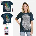 【摩達客】(預購)美國進口ColorWear 貓頭鷹先生 DIY彩繪短袖T恤(附布料畫筆+衣型盒)
