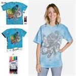 【摩達客】(預購)美國進口ColorWear 章魚開花 DIY彩繪短袖T恤(附布料畫筆+衣型盒)