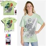 【摩達客】(預購)美國進口ColorWear 青蛙花 DIY彩繪短袖T恤(附布料畫筆+衣型盒)