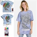 【摩達客】(預購)美國進口ColorWear 花鳥鳴 DIY彩繪短袖T恤(附布料畫筆+衣型盒)