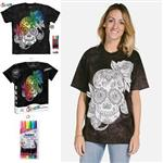 【摩達客】(預購)美國進口ColorWear 蜜糖骷髏 DIY彩繪短袖T恤(附布料畫筆+衣型盒)
