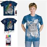 【摩達客】(預購)美國進口ColorWear 花海龜 DIY彩繪短袖T恤(附布料畫筆+衣型盒)