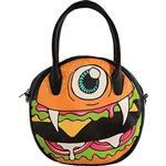 【摩達客】美國Iron Fist鐵拳搖滾圓餅造型漢堡包斜背包單肩包側背包