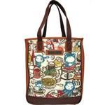 【摩達客】香港設計品牌手繪童話插畫風HosannArt 美食熊樂園托特包單肩包側背包