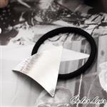 【卡樂熊】亮面三角水波紋路金屬髮束-銀色