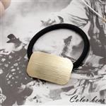 【卡樂熊】方形水波紋路金屬髮束-金色
