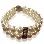 【小樂珠寶】皮光漂亮,便宜,好保養,是大家的新選擇,全美正圓3A南洋深海貝珍珠手鍊