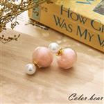 【卡樂熊】甜甜棉花球泡泡糖珍珠耳環-莓果