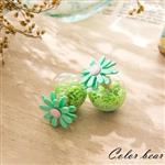 【卡樂熊】春暖花開星星泡泡糖大力丸耳環-綠色