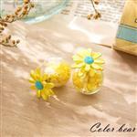 【卡樂熊】春暖花開星星泡泡糖大力丸耳環-黃色