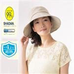 日本sunfamily 降溫涼感抗UV可塑型折邊寬緣防曬帽