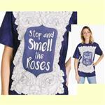 【摩達客】(預購) 美國進口ColorWear 玫瑰花群 禪繞畫療癒藝術 環保短袖T恤