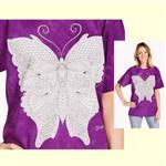 【摩達客】(預購) 美國進口ColorWear 蝴蝶 禪繞畫療癒藝術 環保短袖T恤