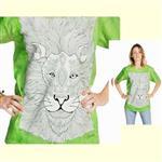 【摩達客】(預購) 美國進口ColorWear 獅子 禪繞畫療癒藝術 環保短袖T恤