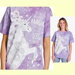 【摩達客】(預購) 美國進口ColorWear 獨角獸 禪繞畫療癒藝術 環保短袖T恤