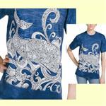 【摩達客】(預購) 美國進口ColorWear 海洋鯨魚 禪繞畫療癒藝術 環保短袖T恤