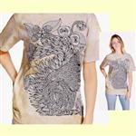 【摩達客】(預購) 美國進口ColorWear 花草松鼠 禪繞畫療癒藝術 環保短袖T恤