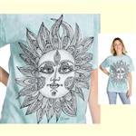 【摩達客】(預購) 美國進口ColorWear 太陽神 禪繞畫療癒藝術 環保短袖T恤