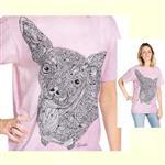【摩達客】(預購) 美國進口ColorWear 伊布吉娃娃 禪繞畫療癒藝術 環保短袖T恤