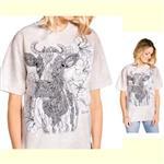 【摩達客】(預購) 美國進口ColorWear 花草哞哞 禪繞畫療癒藝術 環保短袖T恤