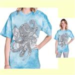 【摩達客】(預購) 美國進口ColorWear 章魚開花 禪繞畫療癒藝術 環保短袖T恤