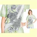 【摩達客】(預購) 美國進口ColorWear 青蛙花 禪繞畫療癒藝術 環保短袖T恤