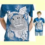 【摩達客】(預購) 美國進口ColorWear 花海龜 禪繞畫療癒藝術 環保短袖T恤