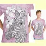【摩達客】(預購) 美國進口ColorWear 斑馬 禪繞畫療癒藝術 環保短袖T恤