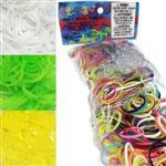 美國正版公司貨 Rainbow Loom 彩虹圈圈亮色組補充包4入組 (白+果凍黃+果凍綠+混色)