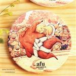 afu插畫陶瓷吸水杯墊《櫻花技》