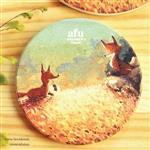 afu插畫陶瓷吸水杯墊《這趟旅途不孤單》