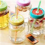 比利時水果切片造型玻璃吸管星沙瓶/水杯/梅森瓶(隨機出貨)