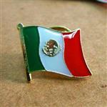 ~國旗 館~墨西哥Mexico徽章4入組 胸章 別針