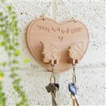 【幸福森林】甜蜜情侶 鑰匙圈/鑰匙架 (整組) - 木偶奇寓