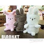 超柔嬰兒毛巾兔可捲曲收納毯(粉)