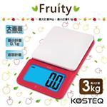 【KOSTEQ】Fruity微量廚房料理電子秤~紅色(3kg)