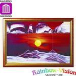 【Rainbow-Vision】水砂畫~螢幕~黃金太陽(L)