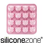 【Siliconezone】施理康耐熱粉紅小豬造型巧克力模/冰模-粉色