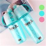 親子款 運動噴霧杯 補水降溫兩用水瓶(三色可選) 600+400ml(果翠綠)