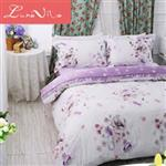 【Luna Vita】雙人 正60支頂級天絲 鋪棉兩用被床包四件組 -薔葳之戀