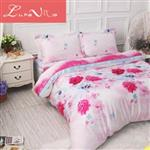 【Luna Vita】雙人 正60支頂級天絲 鋪棉兩用被床包四件組 -粉妝玉琢