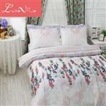 【Luna Vita】雙人 正60支頂級天絲 鋪棉兩用被床包四件組- 琉 璃