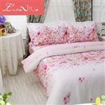 【Luna Vita】雙人 正60支頂級天絲 鋪棉兩用被床包四件組-下一站幸福