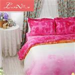 【Luna Vita】雙人 正60支頂級天絲 鋪棉兩用被床包四件組 - 浪漫花語