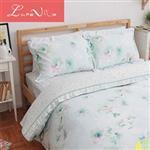 【Luna Vita】雙人 正60支頂級天絲 鋪棉兩用被床包四件組 - 河畔心夢